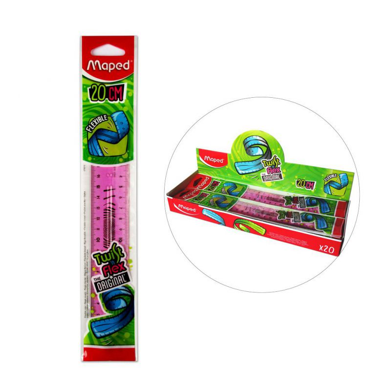 REGLA FLEXIBLE 20CM MAPED