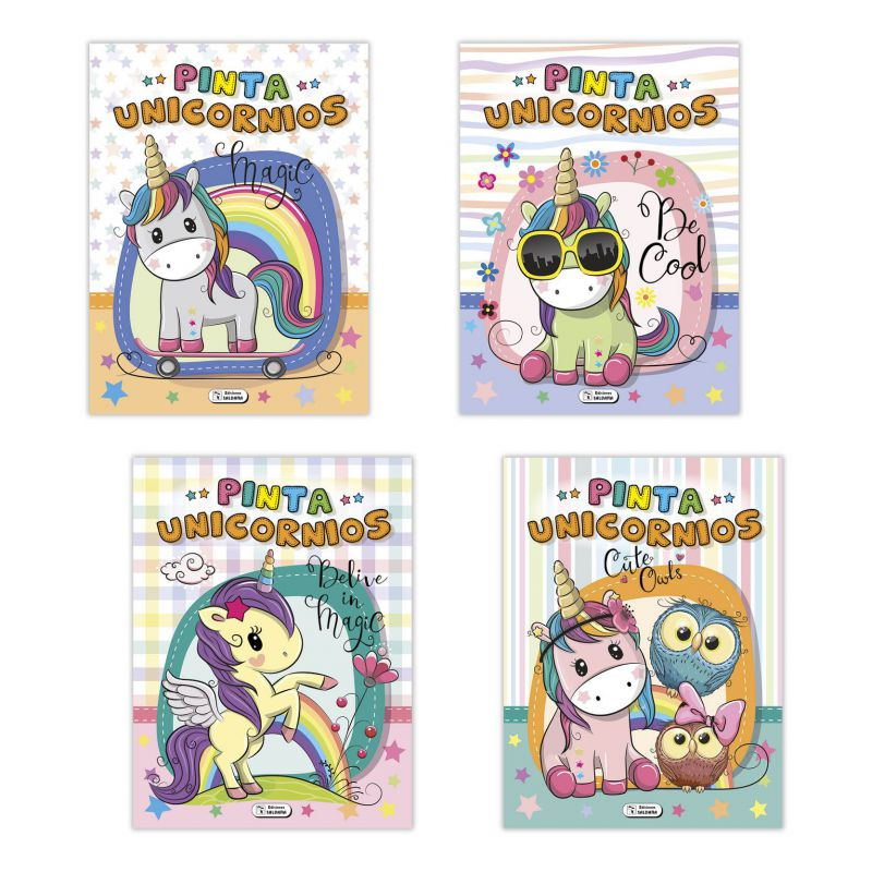 LIBRO PINTA UNICORNIOS MAGIC SALDAÑA CPC136 *