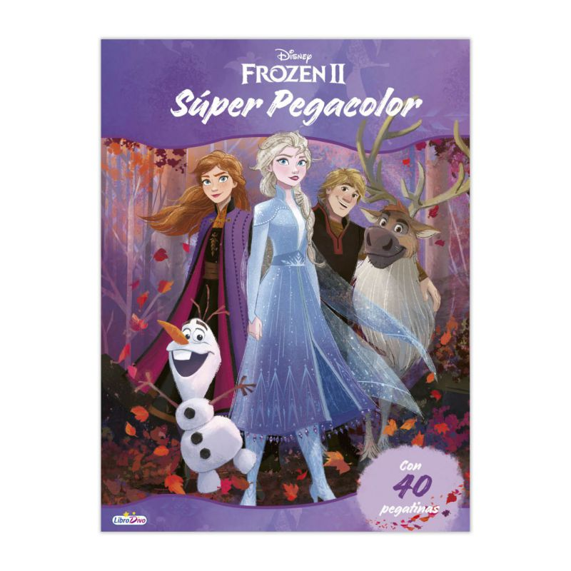 LIBRO SUPER PEGA COLOR FROZEN II SALDAÑA LD0869 *