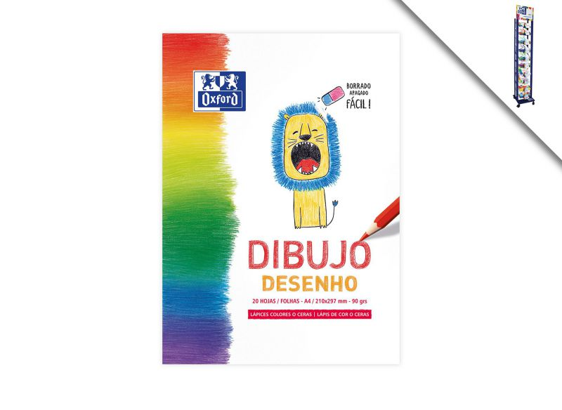 BLOC DIBUJO A4 KIDS 20H 90GR OXFORD 935 *