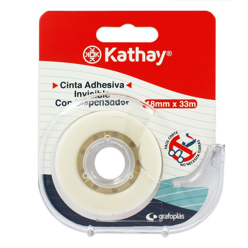 B. CINTA ADH. INVISIBLE + DISPENSADOR KATHAY 3500